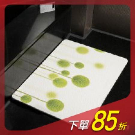 【MBM】綠意盎然_水洗式珪藻土地墊 建材做的地墊