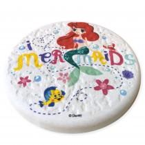 【情人節禮物】美人魚-正版迪士尼珪藻土吸水圓墊